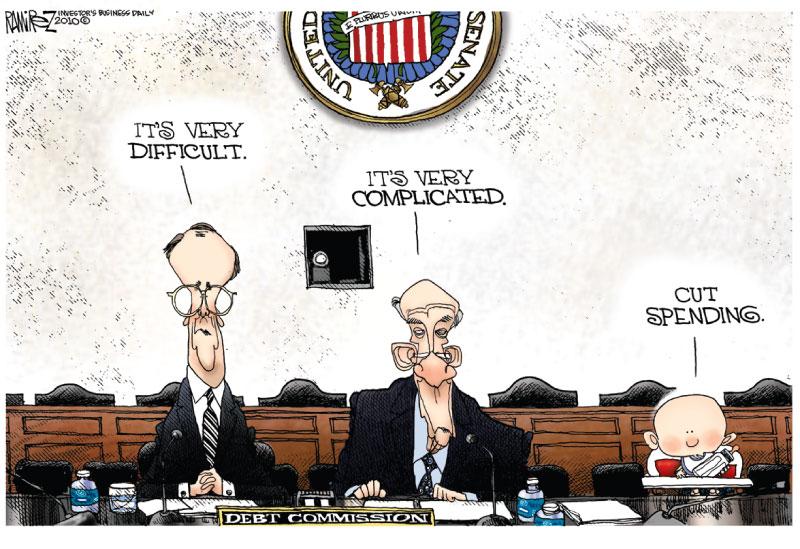 A Michael Ramirez cartoon, Investors Business Daily