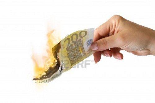 fire-euro-bill