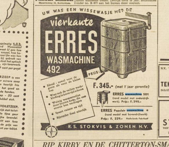 Wasmachine 1950