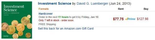 Amazon.com wil je dit boek ook wel verkopen. Voor $130, zeg maar 100 euro.