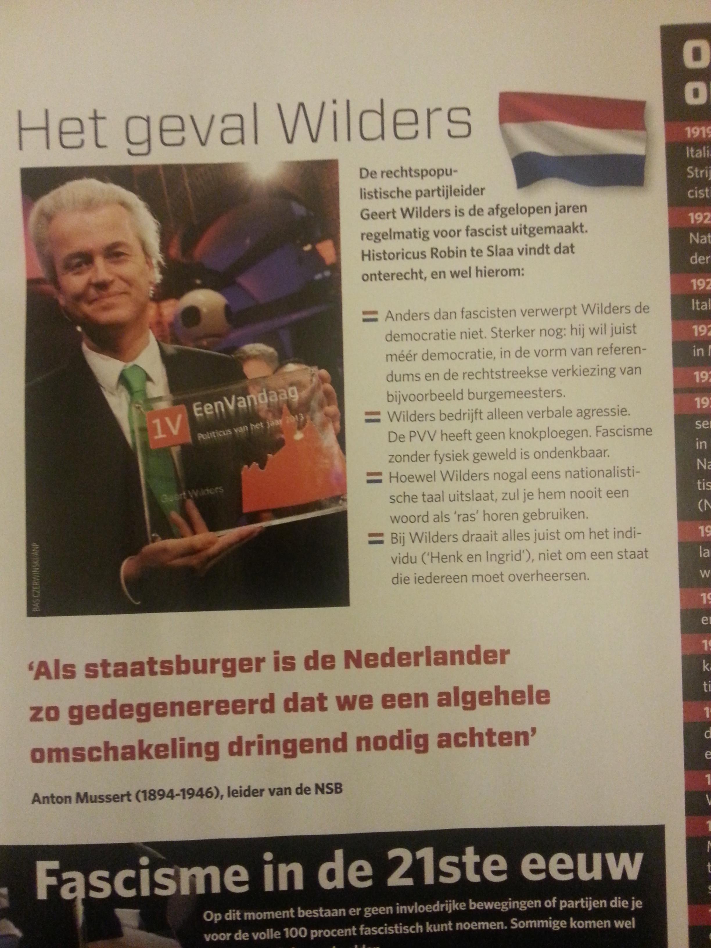 Volgens het weekblad Kijk! is Wilders geen fascist. Of toch wel?