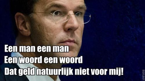 Mark Rutte hoeft zich niet aan zijn woord te houden