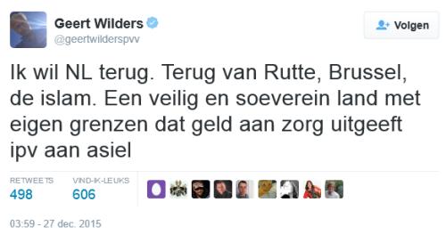 Grenzen dicht Wilders