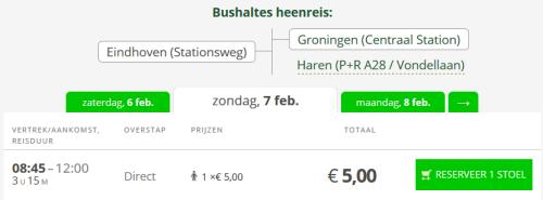 Flixbus Eindhoven - Groningen