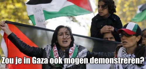 Palestijnen demonstratie