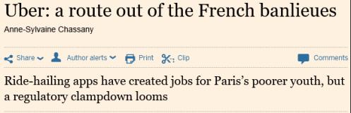 Uber in Parijs, Click voor het hele artikel