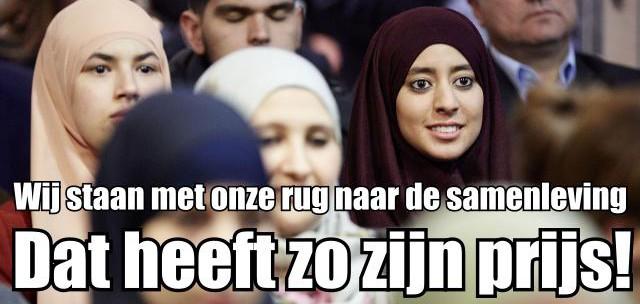 Moslima rug naar de samenleving