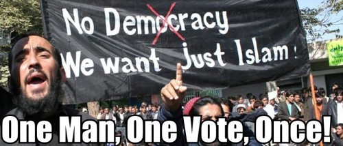 sharia not democracy