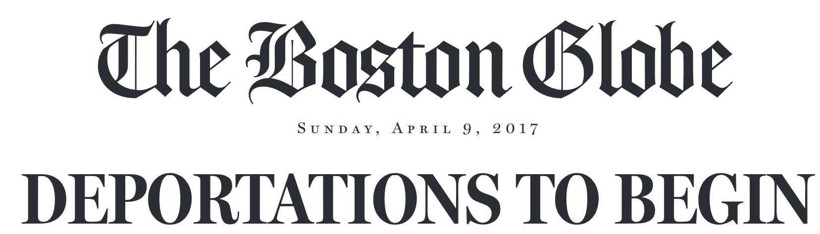 Boston Globe Sunday News