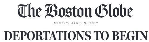 Boston Globe Sunday News