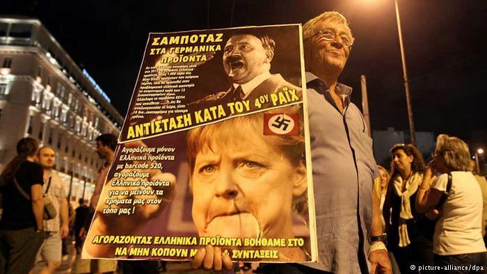 Griekenland Merkel Hitler