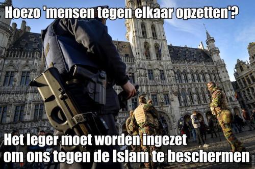 Belgie Leger op straat