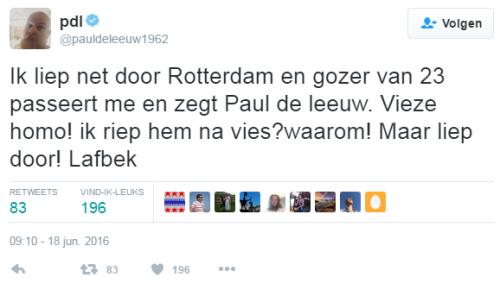 Paul de Leeuw uitgescholden door Marokkanen