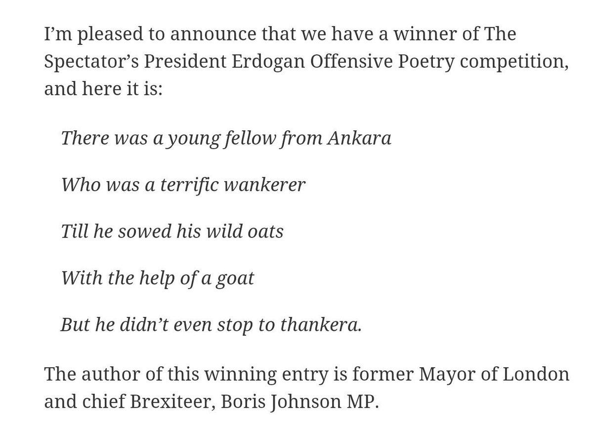 Boris Johnson takes on the Sultan of Turkey