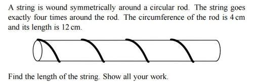 hoe lang is het touw om het stokje