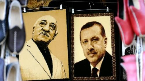 Gulen en Erdogan twee terroristen op een turkse buik