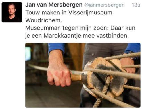 Jan van Mersbergen visserijmuseum marokkanen vastbinden