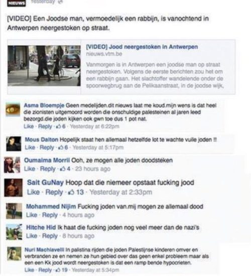 Moslims wensen joden dood