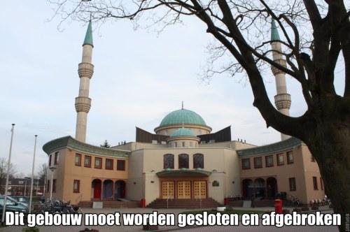 Sluiten en afbreken moskee