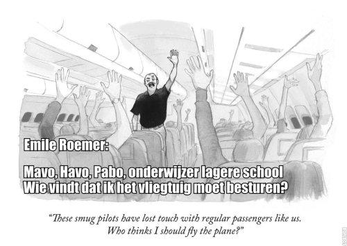 Emile Roemer wordt piloot