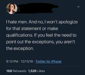 hate men